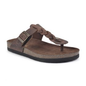 Handle Leather Footbeds Sandal