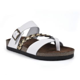 Hazy Leather Footbeds Sandal