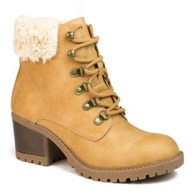 Trident Distressed Fur Bootie