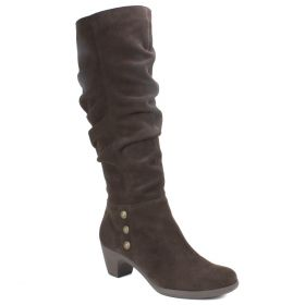 Averie Suede Wide Calf Boot