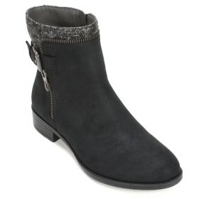 Randolph Distressed Fabric Bootie