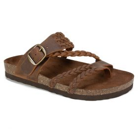 Hayleigh Leather Footbeds Sandal