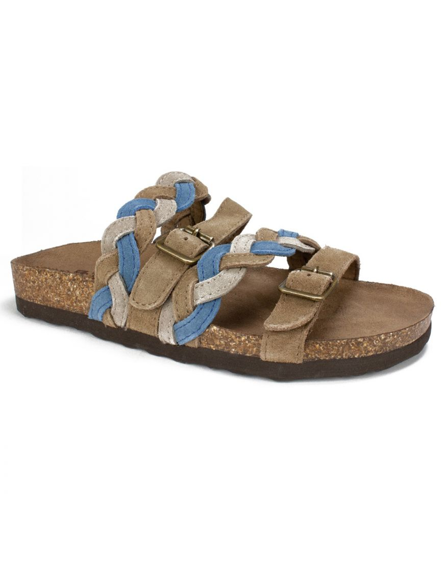 828ee008a6df White Mountain Shoes Holland Leather Sandal - Blue Black Sparkle ...