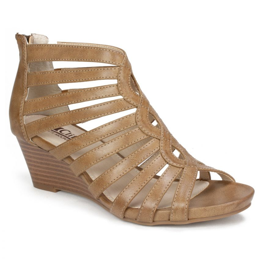 96502472f Cliffs by White Mountain Shoes Victoria Gladiator Comfort Wedge Sandal