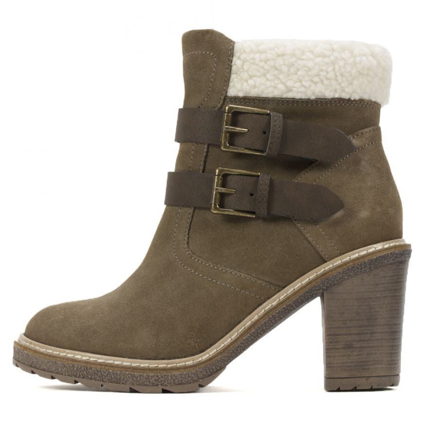 aa7931708558 White Mountain Shoes Joker II Suede Bootie - Taupe