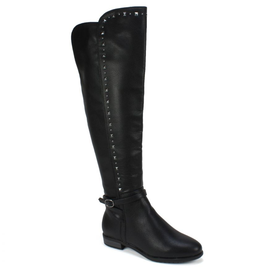 60b7a43216b Ferrell Wide Calf Tall Boot - Black