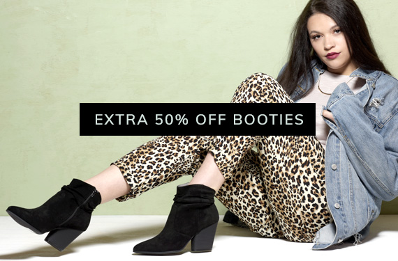 Extra 50% Off Booties