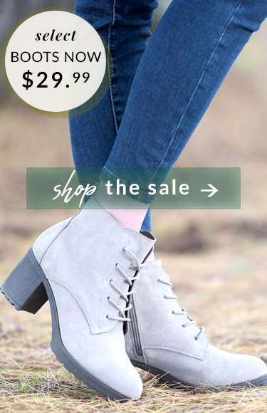 Select Boots Now $29.99 - Shop the Sale