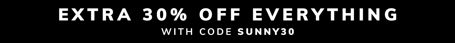 30% Off Everything with code SPRING30