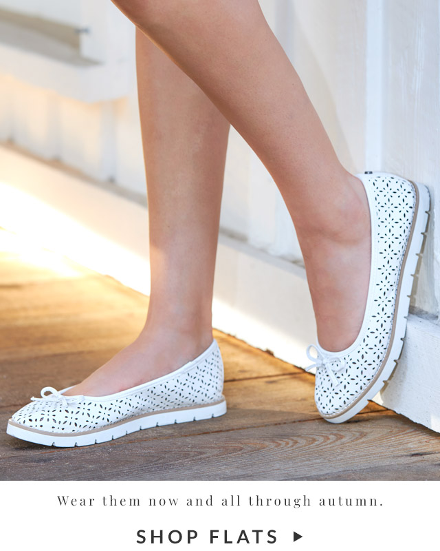 Wear them now and all through autumn | Shop Flats