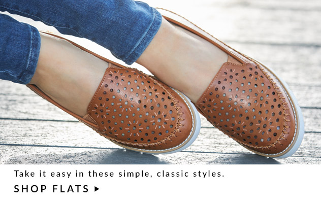 Take it easy in these simple, casual styles. Shop Flats