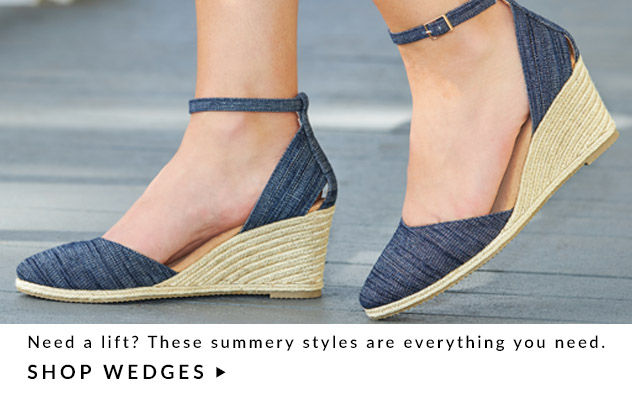 Need a lift? These summery styles are just what you need. Shop Wedges