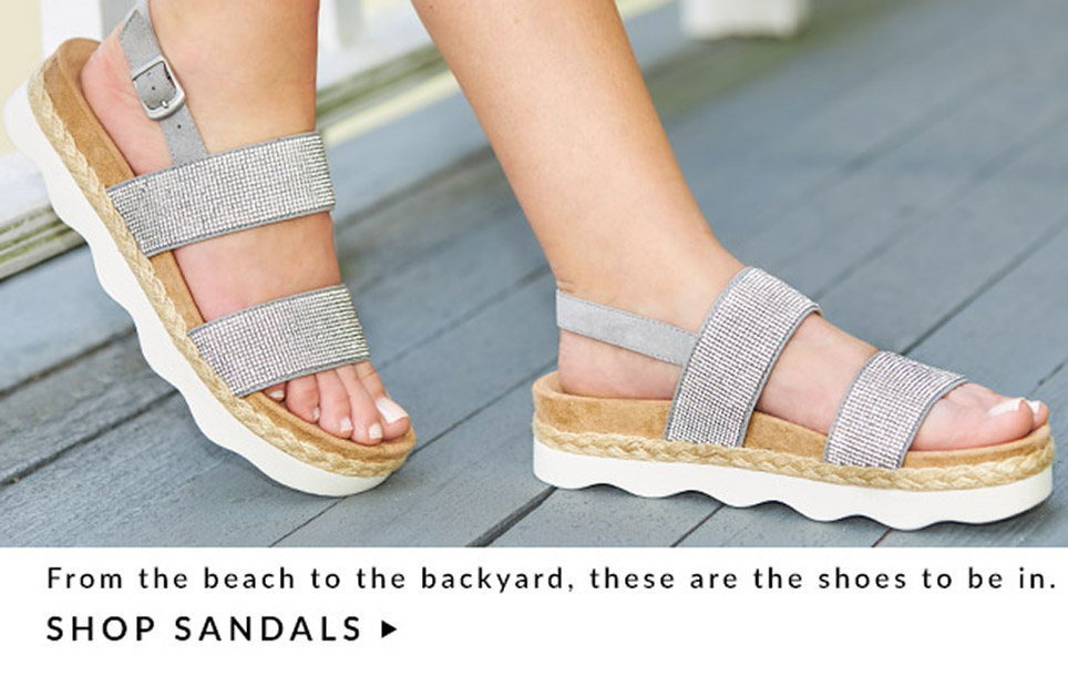 From the beach to the backyard, these are the shoes to be in.   Shop Sandals