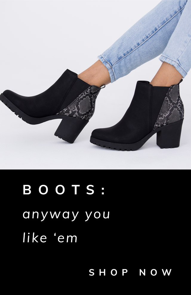 Boots: Anyway You Like 'Em