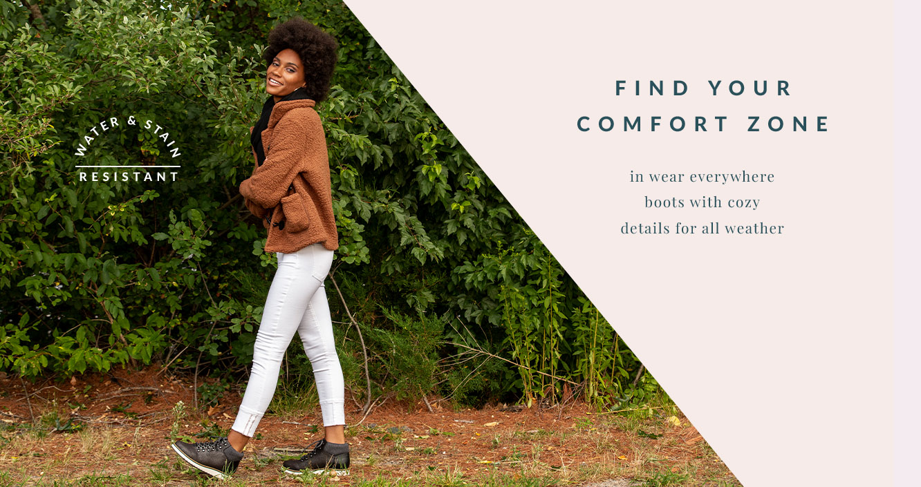 Find Your Comfort Zone in Wear Everywhere Boots with Cozy Details for All Weather
