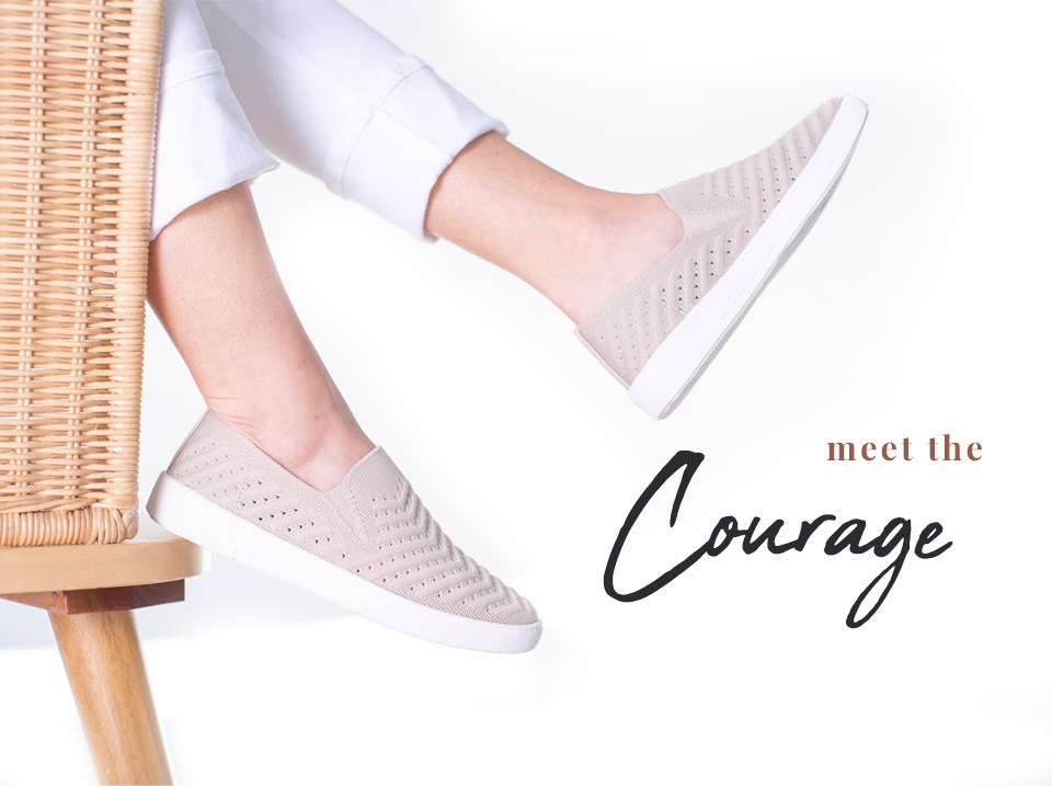 Meet The Courage | Our lightweight, breathable, knit sneaker.