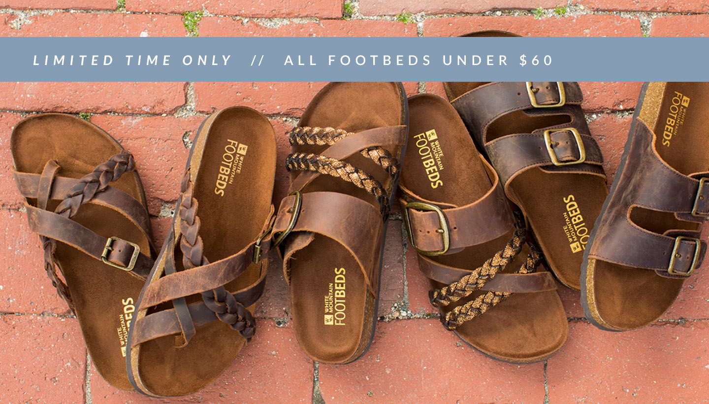 Limited Time Only // All Footbeds Under $60