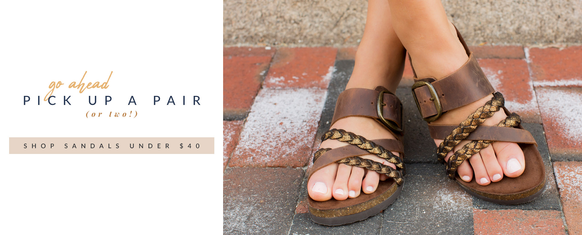 Go Ahead, Pick Up a Pair (or Two!) | Shop Sandals Under $40