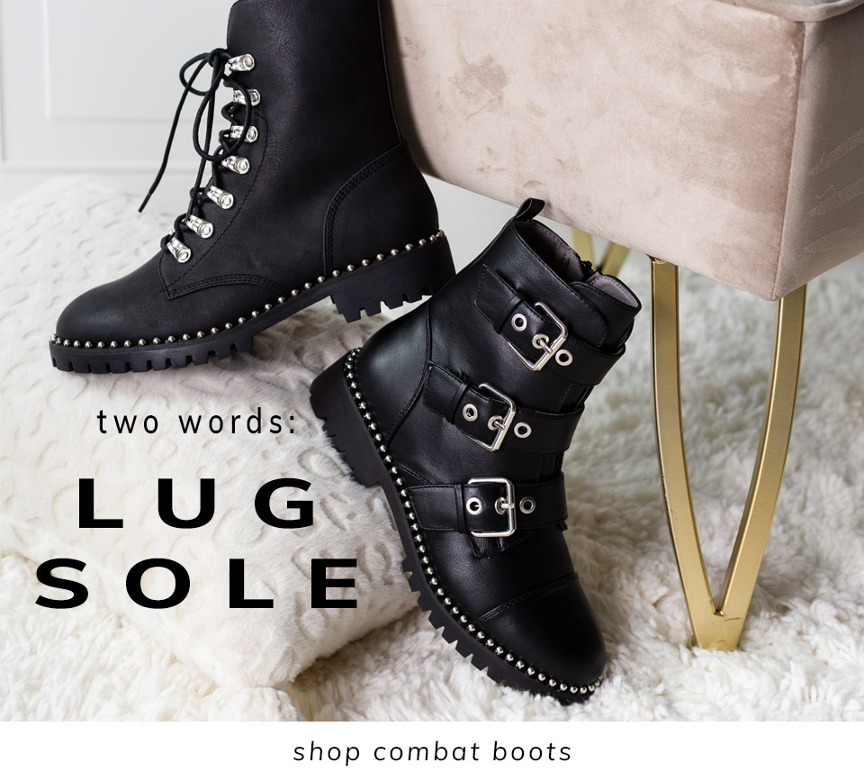 Two Words: Lug Sole| Shop Combat Boots
