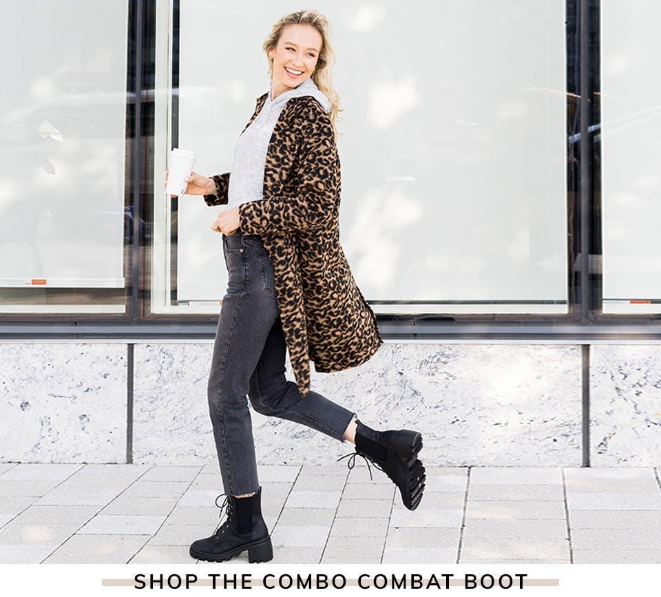 Shop The Combo Combat Boot