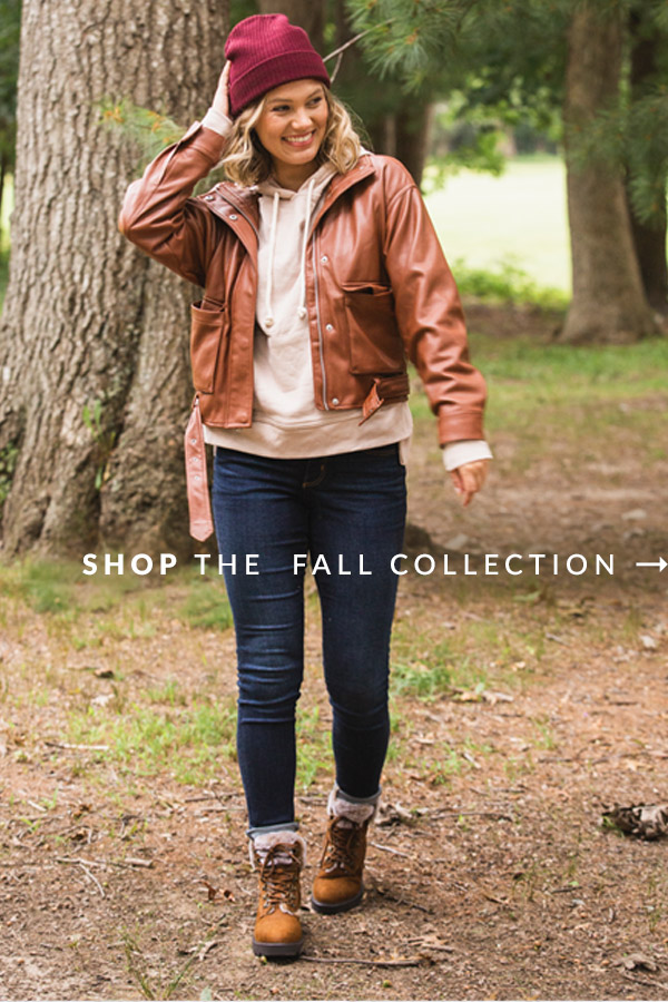 Pumpkin spice, crunchy leaves, apple cider, new boots. | Shop the Fall Collection